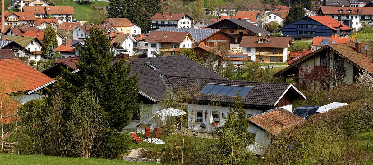 Anfahrt nach Bodenmais im Bayerischen Wald